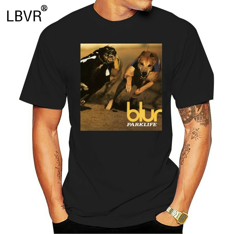 Blur parklife álbum capa rock legend masculino preto camiseta tamanho s a 3xl