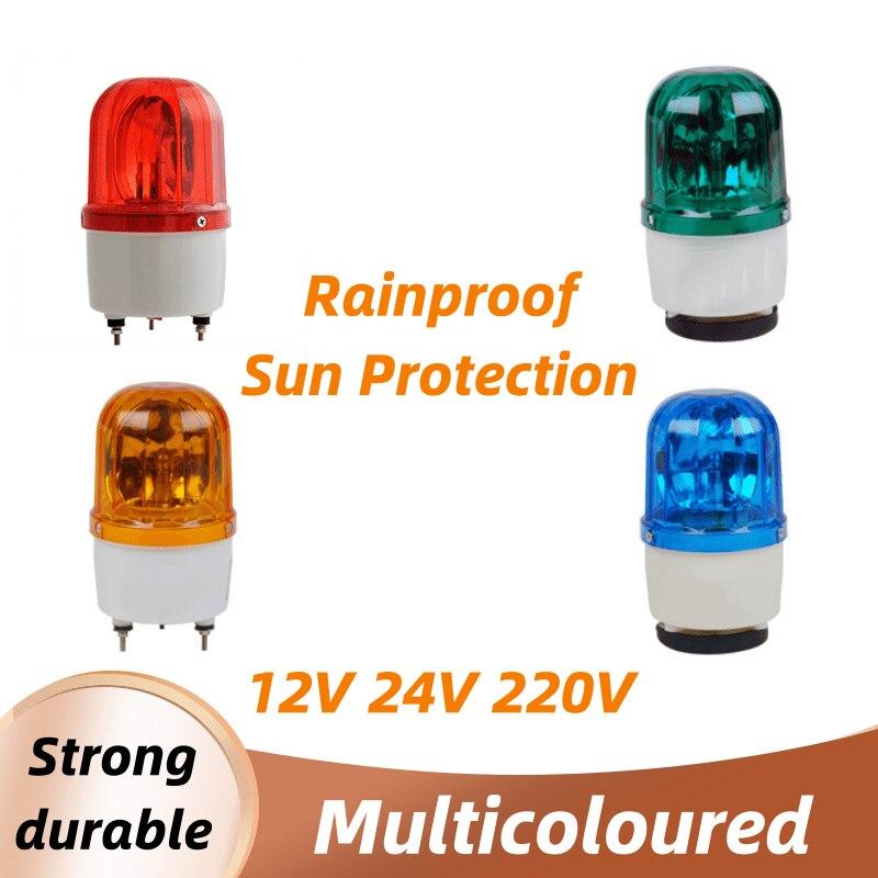 Quente multicolorido 12 v/24 v/220 v led alarme luz de advertência da lâmpada sinal buzzer rotativo sirene flash strobe iluminação de som de emergência