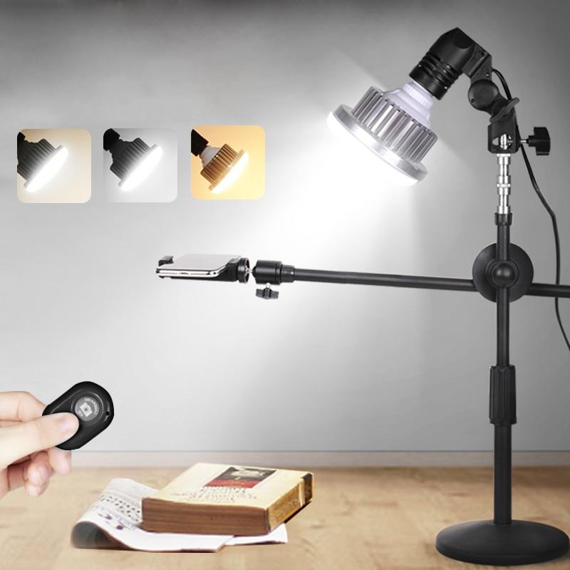 85W LED Light Photo Studio Kits For Desktop Photo/Video Adjustable Desktop Phone Shooting Bracket Stand+ Boom Arm