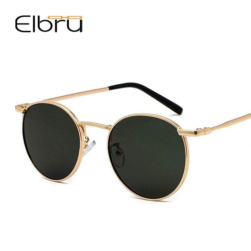 Женские винтажные солнцезащитные очки Elbru, классические металлические брендовые дизайнерские очки для вождения, 2020
