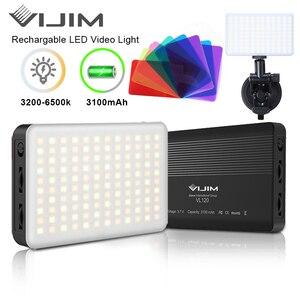 VIJIM VL120 3200K-6500K зум светодиодный видео светильник регулируемый Портативный заполнить светильник Vlog светильник конференции светильник ing ...