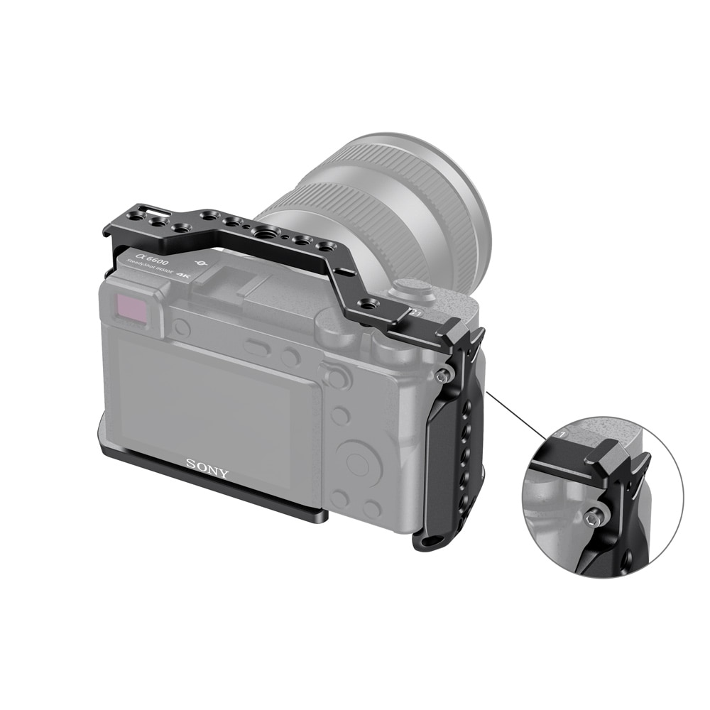SmallRig A6600 Camera Cage for Sony A6600 With Cold Shoe Mount 1/4 Thread Holes for Microphone Flash Light DIY Options 2493 enlarge