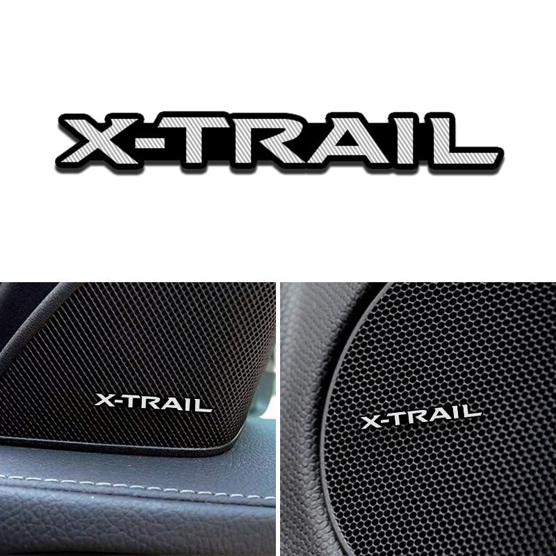 4pcs 3D speaker stereo speaker aluminum badge emblem Sticker for Nissan X-Trail Qashqai Murano Teana Car Accessories Styling