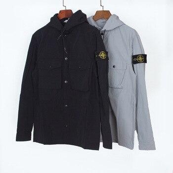 STONE ISLAND Hooded Armband Classic Pocket Workwear Men Jacket M-XL #8361