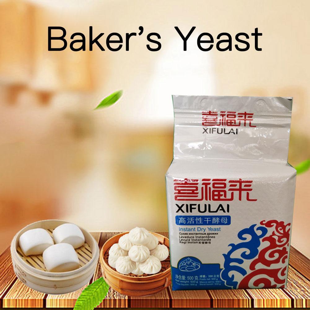 Levadura seca instantánea altamente activa de 500g, bollo de alta tolerancia de glucosa, pan, polvo para hornear, suministro de ingredientes para hornear en la cocina