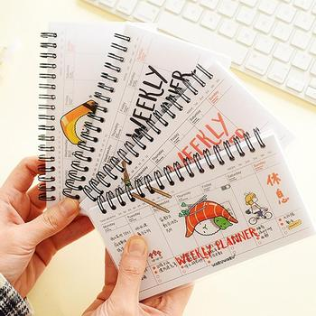 Cute Daily Planner Notebook Weekly Day Plan Time Organizer Stuff Notebook Spiral Agenda ежедневник agenda 2020 español Random