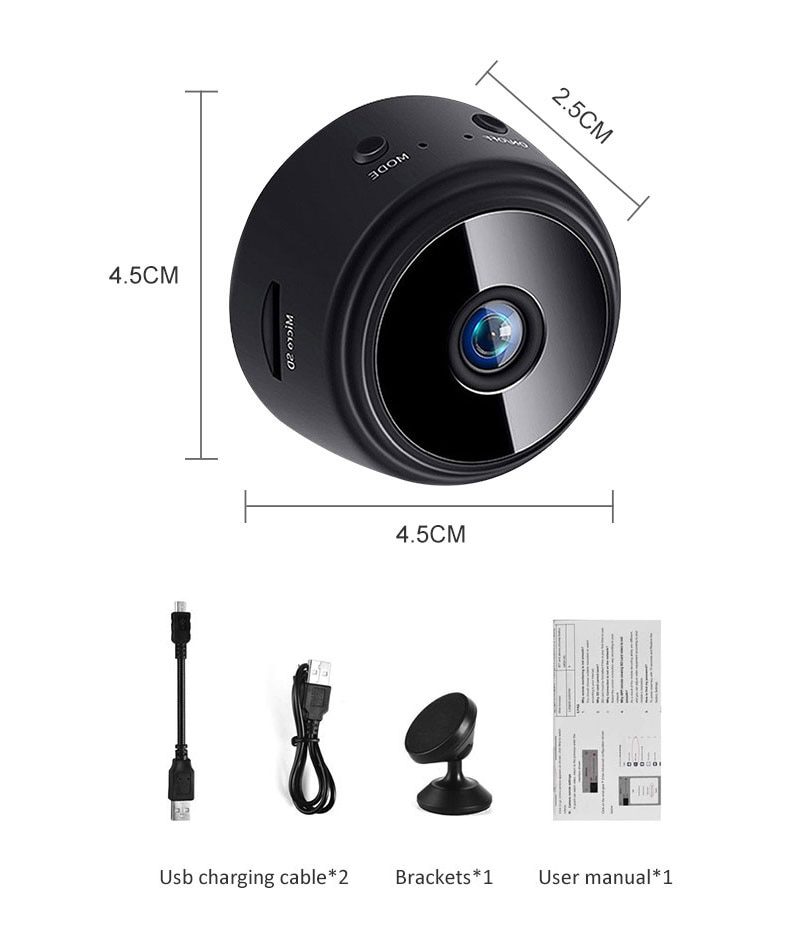A9S New Version Wifi Mini Camera With Battery 1080P Night Vision Motion Detection Wireless IP Cam With Remote Indoor Smart Home