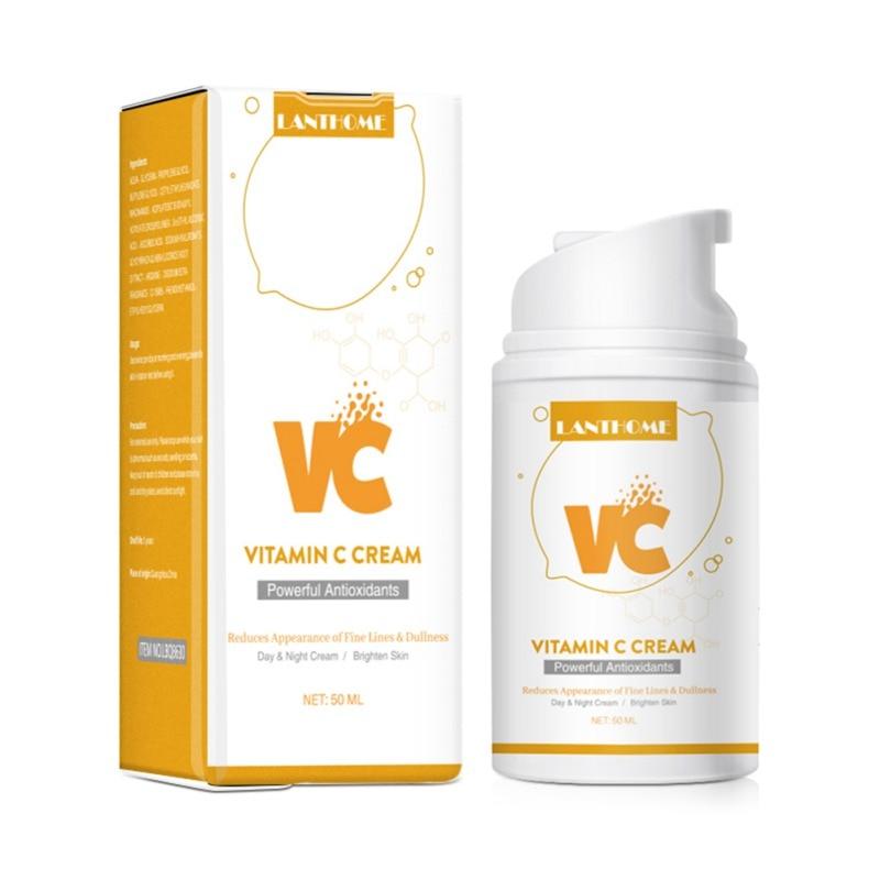 50ml Organic Vitamin C Milk Moisturizing Face Cream  Whitening Anti Aging Wrinkles High Quality Face Cream Facial Skin Care недорого
