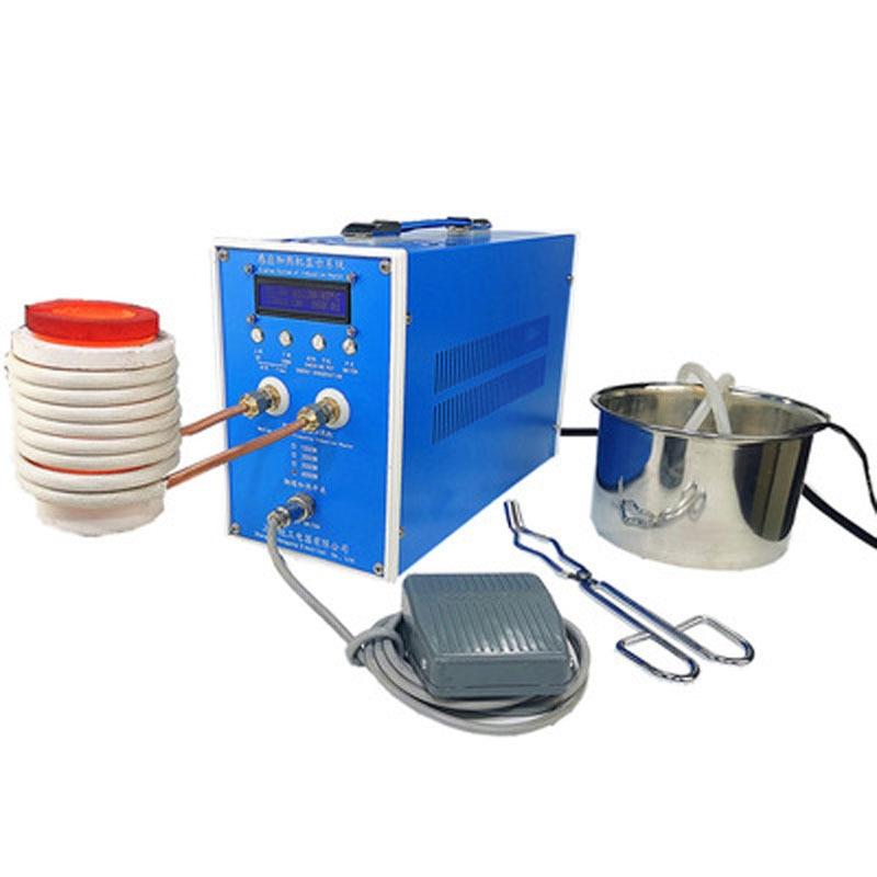 6000 واط جهاز تسخين حثي ماكينة حرارة التوجيه صهر المعادن فرن عالية التردد لحام المعادن معدات التبريد