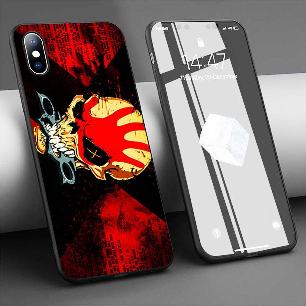 Coque Five Finger Death Punch suave de la caja del teléfono de silicona para iPhone 11 Pro Max X 5S 6 6S XR XS Max 7 8 Plus caso de la cubierta del teléfono