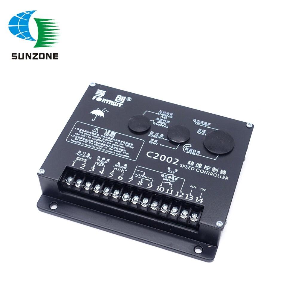 Fortrust-CONTROLADOR DE VELOCIDAD C2002, placa de Control de velocidad para Grupo Electrogeno,...