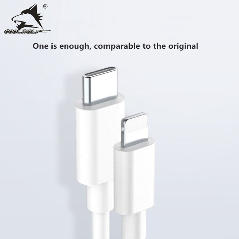 COOLWOLF 20W PD Fast Charging Cable for iPhone 12 11 Pro Xs Max X 8 USB Type C to Lighting Cable for iPad Data Cord Charger Wire enlarge
