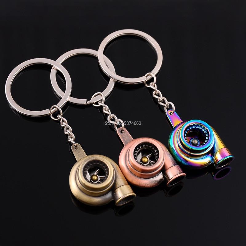 Мини турбо Турбокомпрессор брелок спиннинг турбина брелок для ключей кольцо брелок для ключей Автомобильный брелок аксессуары для интерье... брелок cromia брелок