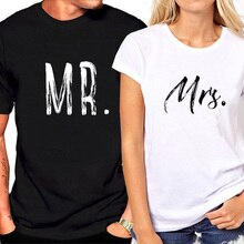 2020 Couple T Shirt Shirt Loose Tees Tops T-shirt Summer Top White Shirt Woman Men Matching Letter Printed MR MRS