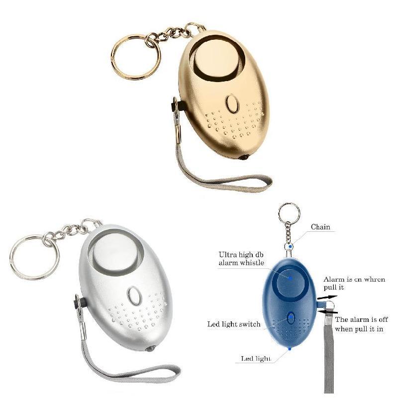 Персональная сигнализация со светодиодный светильник кой, 120 дБ, защита от потери волка, Самооборона, безопасность, аварийная сигнализация ...