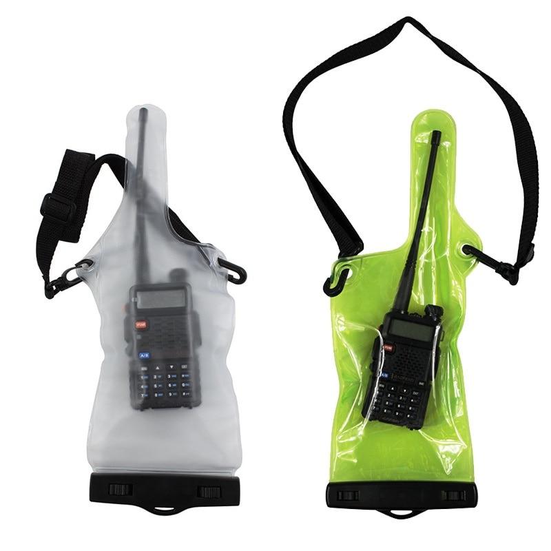 Рекомендуемый чехол для портативной рации, водонепроницаемый чехол для рации, двусторонняя рация, полная защита, держатель с ремешком KT01
