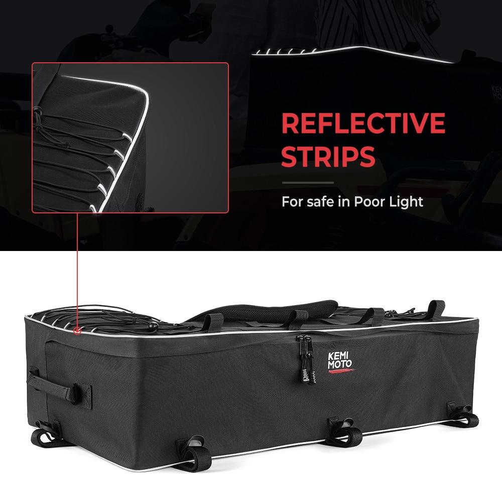 For Polaris 300 Rear Rack Bag Package Support Storage Pack Back ATV For Yamaha Big Bear 400 for Can-Am Outlander 400 enlarge