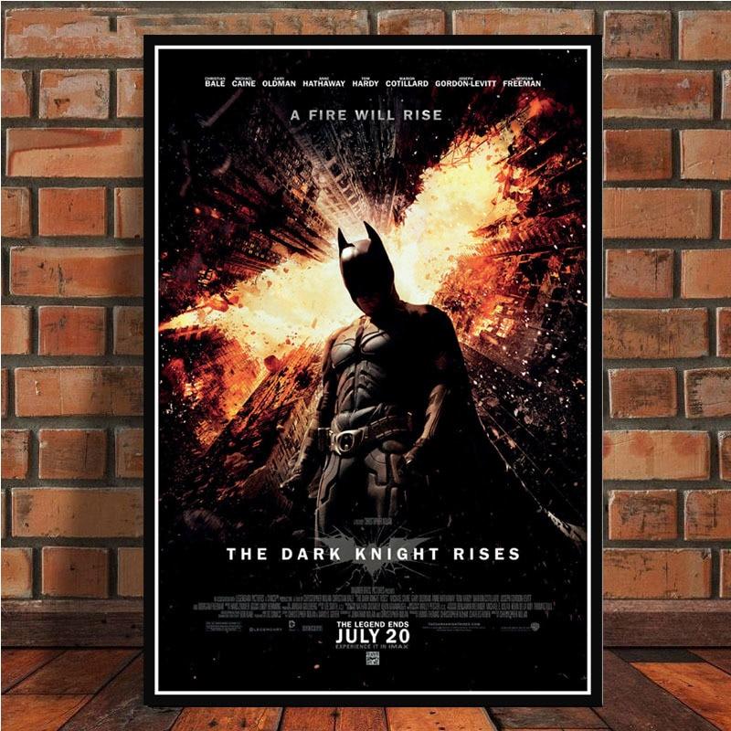 Batman popular superhéroe película de CC Joker comienza póster Retro e imprime arte de pared lienzo óleo cuadros para la decoración del hogar de la sala de estar