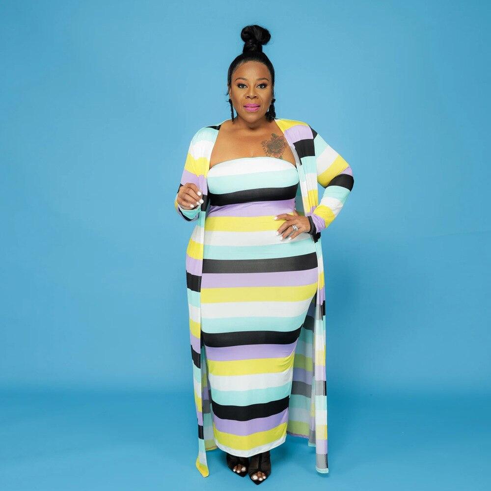 Комплекты ChocoMisty-LadyPlus больших размеров, комплект платья-бандо с цветными вставками