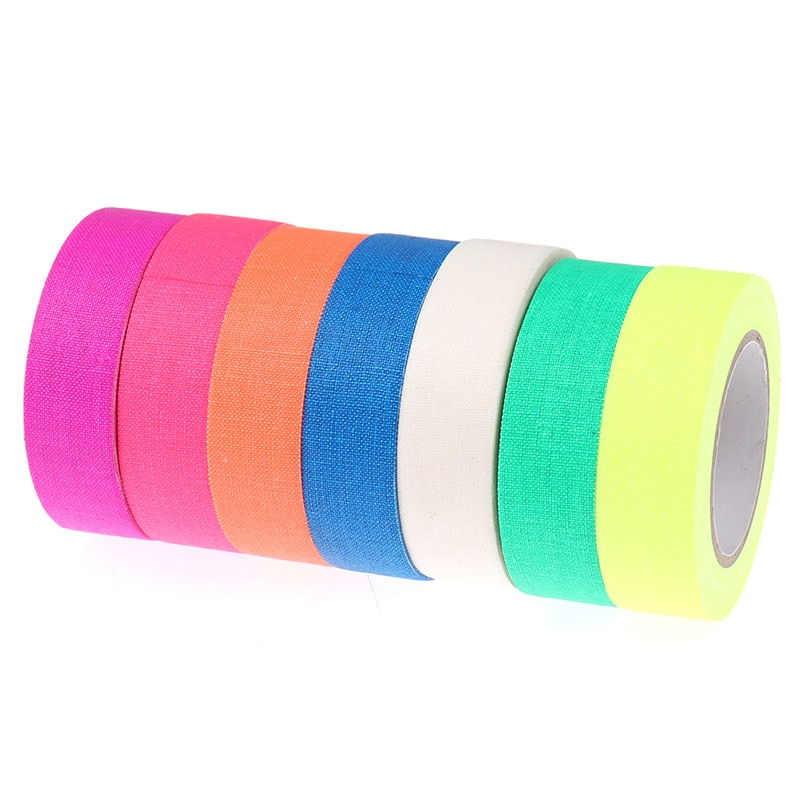 DIY Fluorescent UV Cotton Tape Night Self-Adhesive Glow In The Dark Luminous Tape For Party Floors Stages