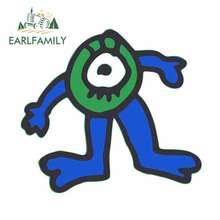 EARLFAMILY 13cm x 11.9cm for Blue-green One-eyed Monster Cartoon Car Stickers Vinyl JDM Bumper Trunk Truck Graphics Fine Decal