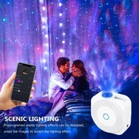 NEW Smart Life Wifi Starry Sky Projector Galaxy Projector Stars Moon Ocean Voice Music Control LED Night Light Lamp For Kid Gift