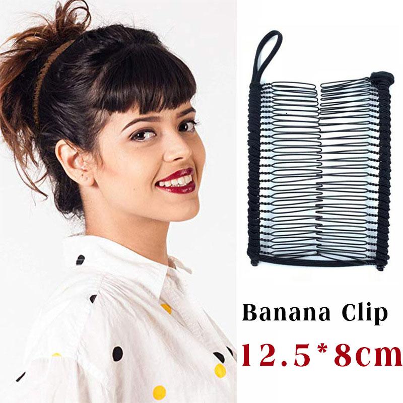 1pc estiramento banana clip duplo lado preguiçoso cabelo feminino pente grosso encaracolado ferramenta de estilo de cabelo rabo de cavalo acessórios para o cabelo