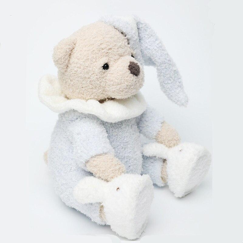 Ins fofo chapéu askew sentado urso dos desenhos animados brinquedos de pelúcia infantil alisamento boneca decoração aconchegante pijama animal boneca presente para crianças