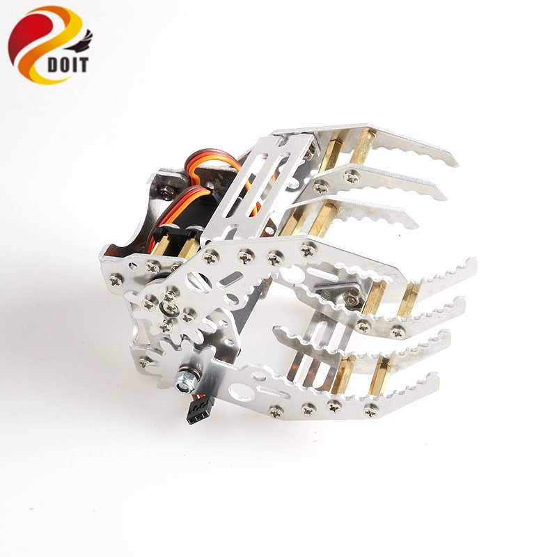 SZDOIT G8 Metal Mechanical Gripper Industrial Robot Arm Claw/Clamp With Digital High Torque Servo RC