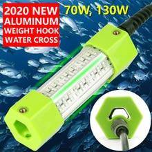 70W 130W DC 12V vert blanc bleu jaune IP68 aluminium haute puissance LED poisson attirant leurre Submersible lumière de pêche sous-marine
