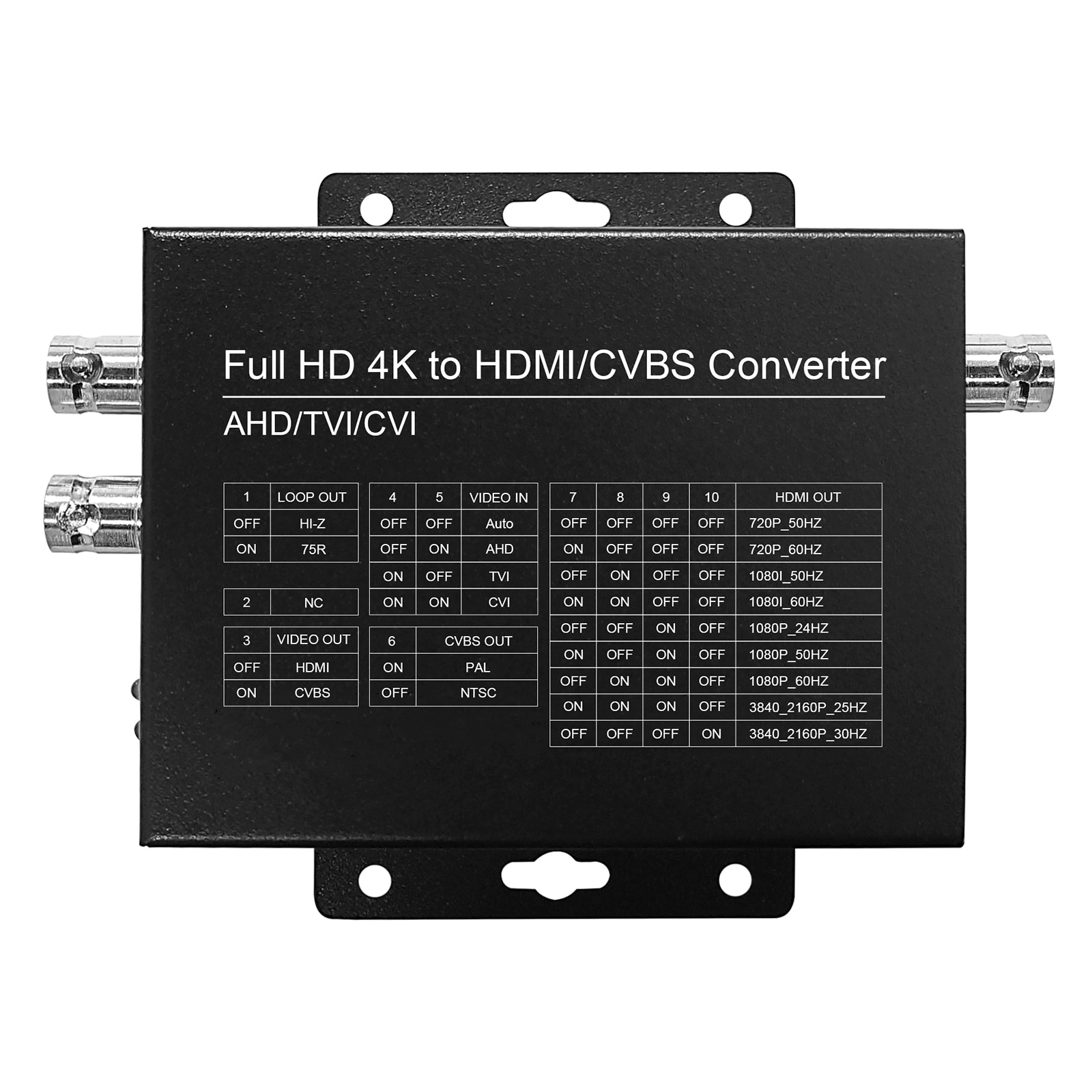 HDMI-Compatible CVI/TVI/AHD+CVBS to HDMI Converter Connect Auto Recognition FULL HD Monitor 4K 8MP Video Converter Adapter enlarge