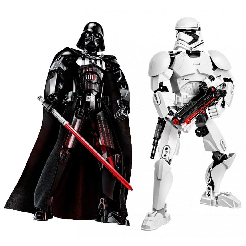 Star Wars Buildable Figure Stormtrooper Darth Vader Kylo Ren Chewbacca Boba Jango Fett General Griev