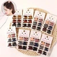 6 pcsset new women girls mini hair claws clip mini small clip amber morandi color clip mini fashion resin hair accessories