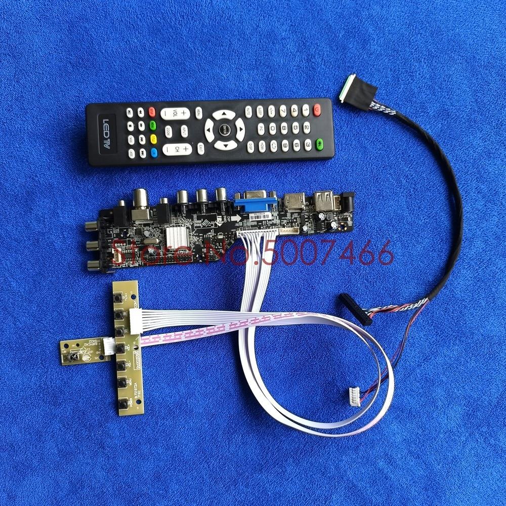 USB VGA AV 1280*800 LVDS DVB 3663 40-Pin إشارة رقمية عالمية عرض تحكم محرك مجموعة لوحة صالح B101EW04/BP101WX1