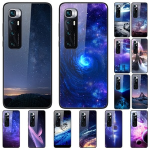 Glass Case For Xiaomi 10 Ultra Tempered Glass Phone Case Phone Cover Phone Shell Star Sky Series