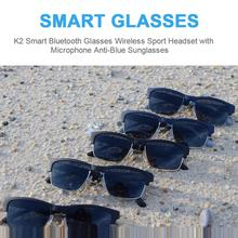 Newest Bluetooth Smart Glasses Wireless Sport Headset With Microphone Anti-Blue Light Smart Sunglass