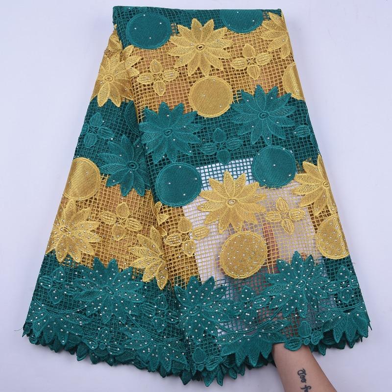 Tela de encaje guipur de alta calidad con bordado de flores, cordón Soluble en agua, tela de encaje, encaje de malla francesa para fiesta de boda