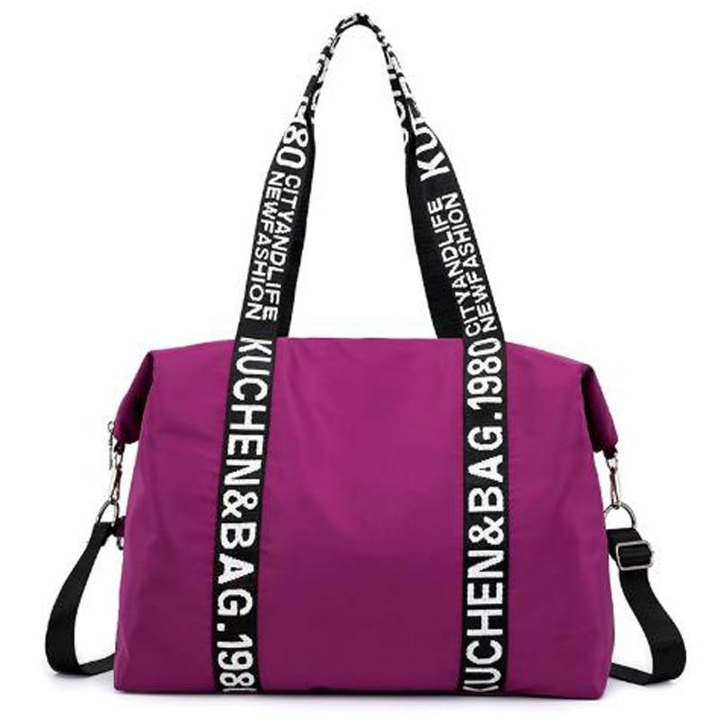 Casual Tote Women'S Shoulder Tote Nylon Large Capacity Ladies Bag Letter Shopping Bag