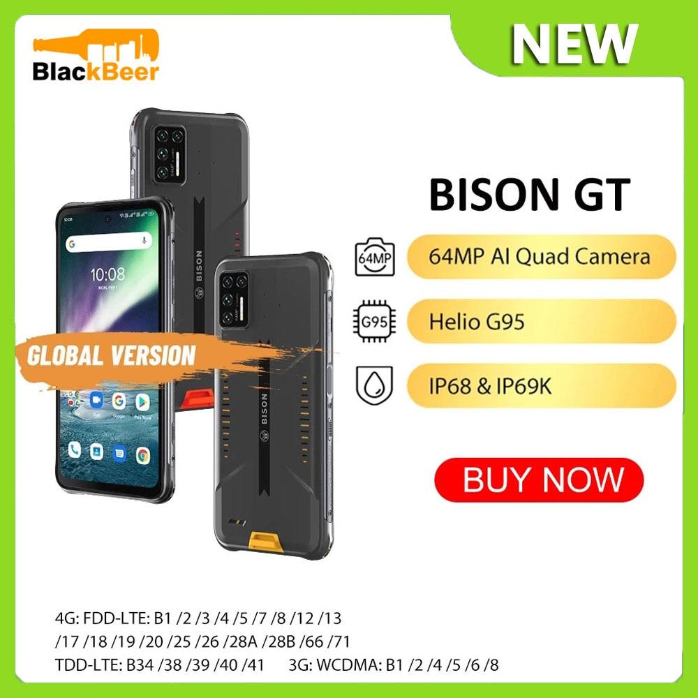 Перейти на Алиэкспресс и купить UMIDIGI BISON GT Android 10 Мобильный Телефон IP68/IP69K водонепроницаемый прочный смартфон Восьмиядерный Helio G95 6,67 дюйммобильный телефон 5150 мАч NFC
