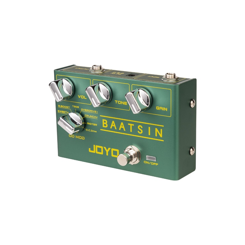 JOYO R-11 BAATSIN Classic Overdrive Pedal 8 Different OD/DS Distortion Effect Pedal For Electric Guitar Effect Guitar Parts enlarge