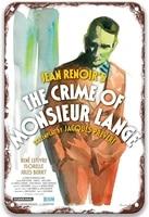 le crime de monsieur lange 1936vintage movies metal tin signs chic for living room home decoration garden coffee