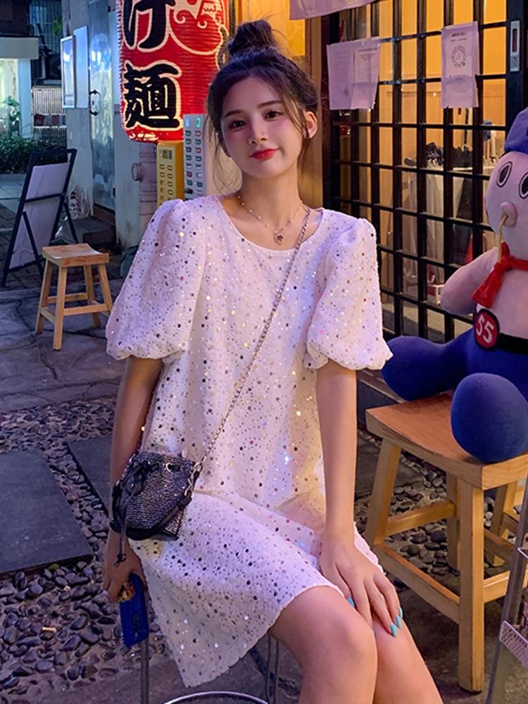 Dress 2021 New Xianqi Summer Thin T-shirt Skirt Children's French Design Short Sleeve Baby Dress