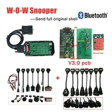 Multi-language v5.008 R2/R5.0012 keygen on cd v3.0 pcb bluetooth cars trucks obd2 OBD diagnostic scan tool+8pc car /truck cable