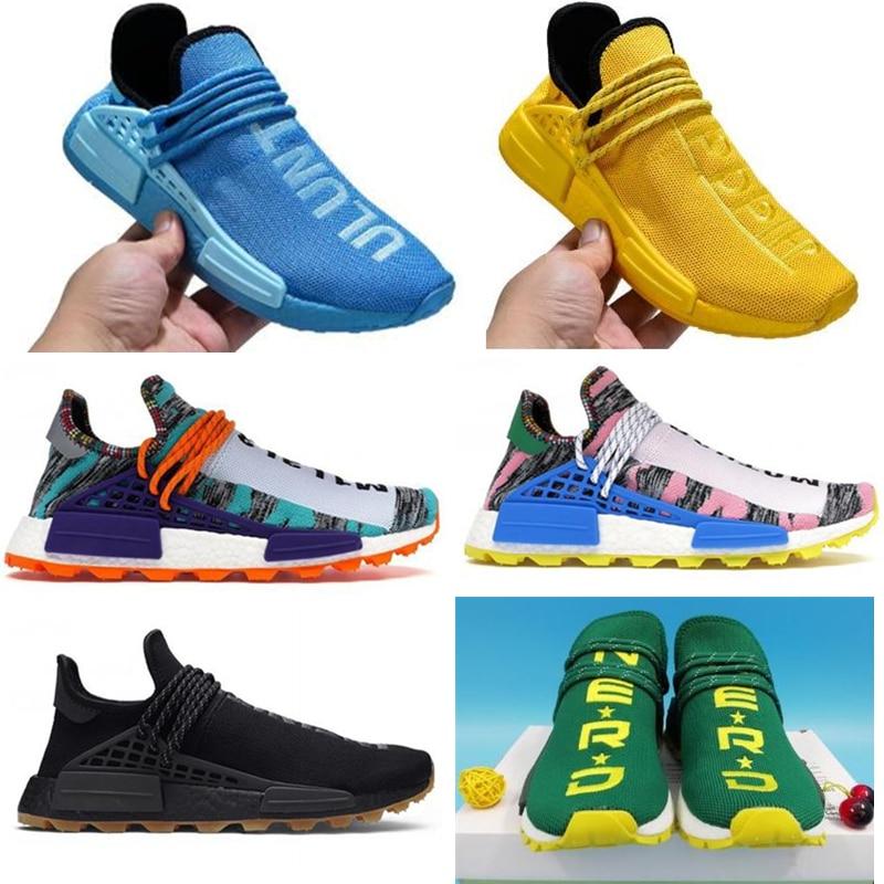 2021 رائجة البيع احذية الجري سباق الإنسان فاريل ويليامز أبيض أسود أصفر أحمر الروح الشمس الهدوء المرأة أحذية رياضية حجم 36-47