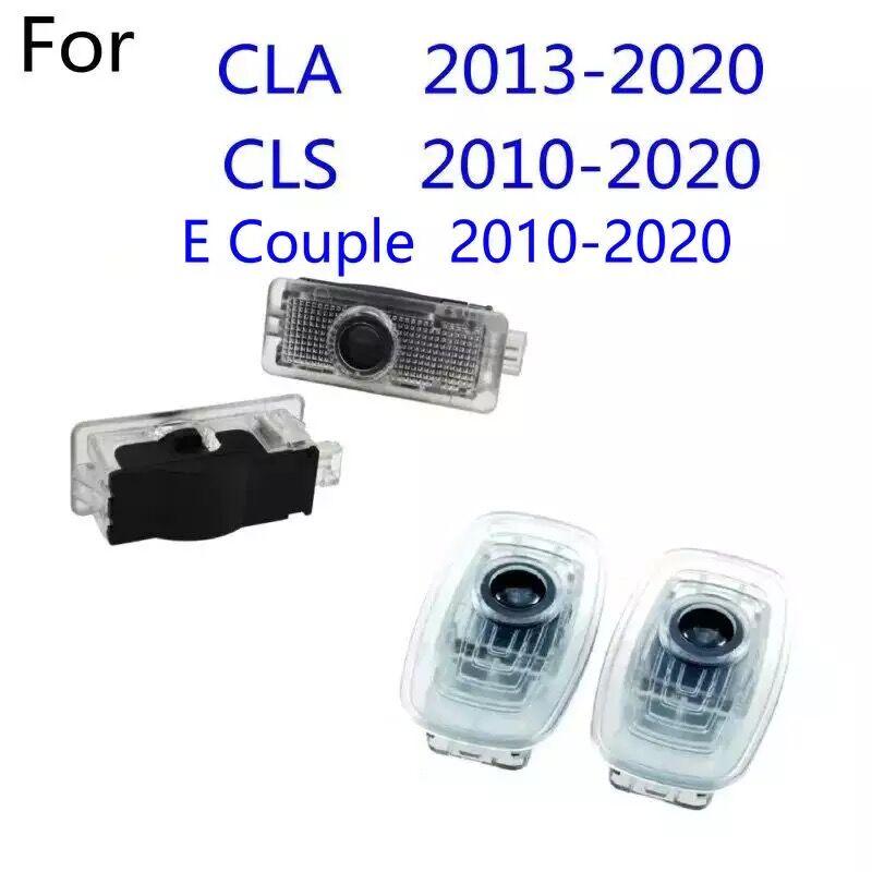 2x led luz da porta do carro logotipo projetor para mercedes benz cla e classe casal w212 c207 w213 w238 c238 2020 2019 2018 2017 2015 2013