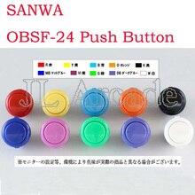 Original Sanwa 24mm Push button OBSF-24 Japan Sanwa Arcade Button Jamma MAME Start Button DIY Parts