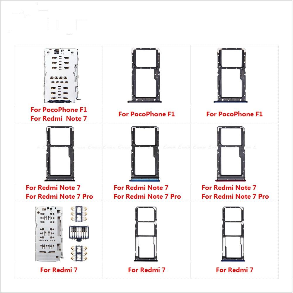 Para XiaoMi Redmi 7 Note 7 Pro pocofone F1 soporte de tarjetas Micro SD conector contenedor bandeja de tarjeta Sim Socket ranura lector adaptador