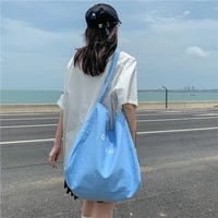 high quality womens japan and south korea large capacity canvas bag 2021 new simple shoulder bag portable lazy style female bag