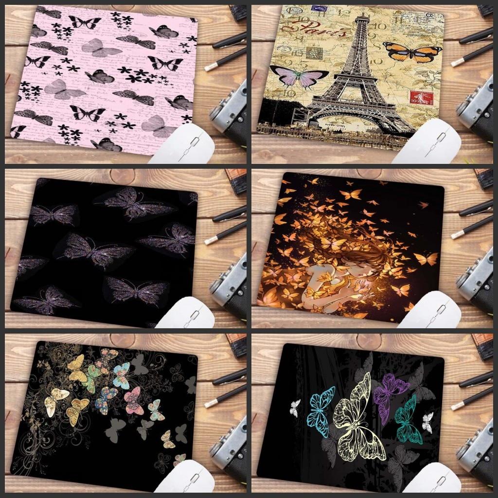 Игровые скоростные мыши XGZ с цветными цветами и бабочками, розничная продажа, маленький резиновый коврик для мыши, размер 18x22 см, большой рек...