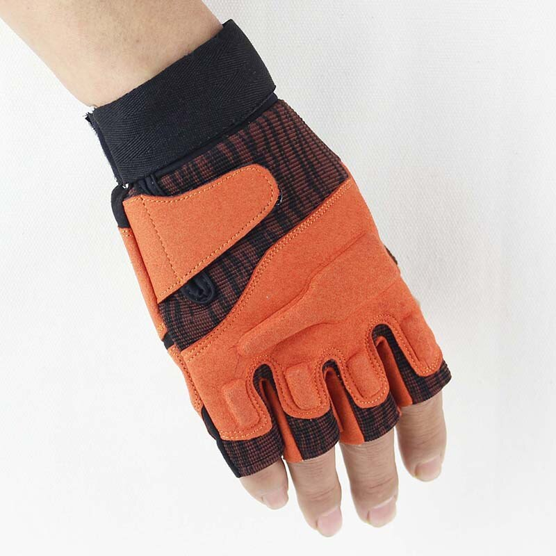 Outdoor C1 Half Finger Tactical Gloves Cycling Anti Skid Protection Mountaineering Fitness enlarge